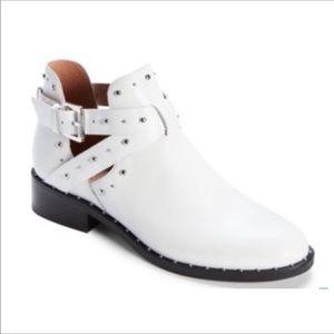 NWT Halogen • Hailey • White Studded Moto Bootie